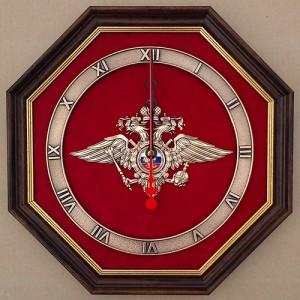 Настенные часы с эмблемой МВД РФ
