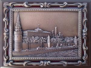 """Плакетка с видом Москвы """"Кремлёвская набережная"""""""