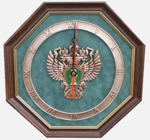 Настенные часы с эмблемой прокуратуры РФ