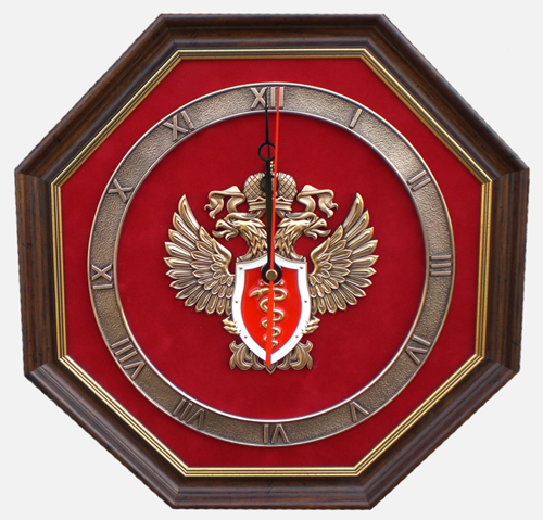 Настенные часы с эмблемой ФСКН