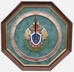 Настенные часы с эмблемой Пограничной службы