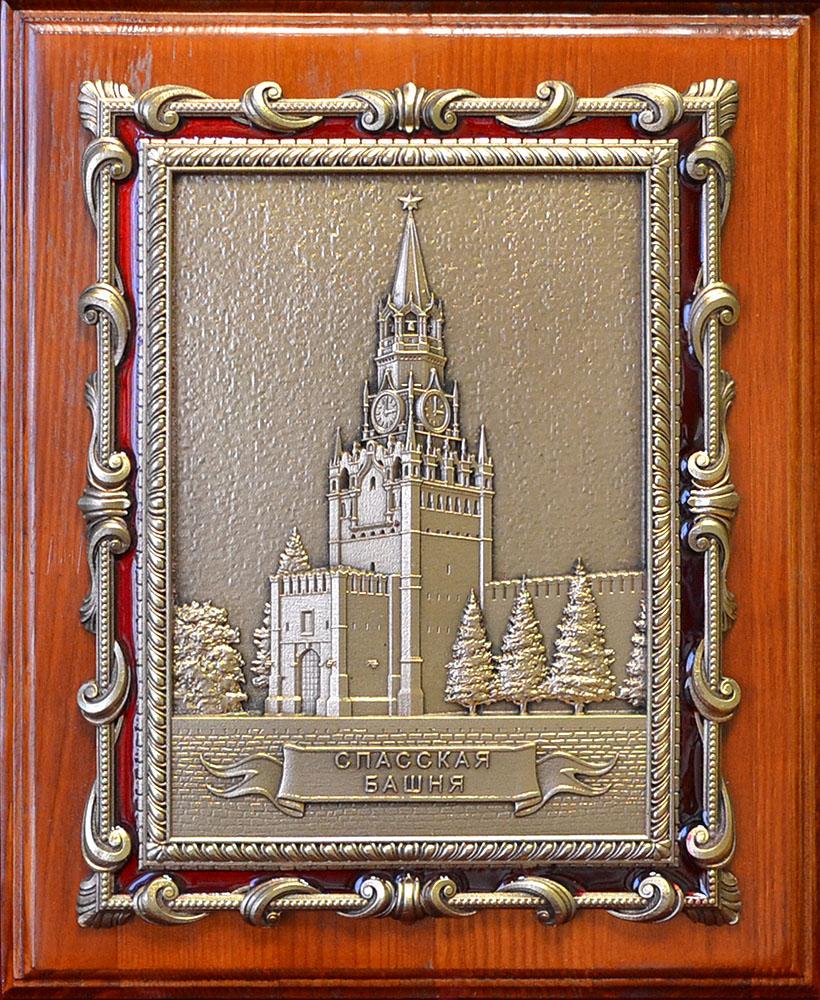 """Плакетка """"Спасская башня"""" в подарочной упаковке"""