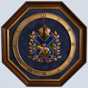 Настенные часы с гербом Приморского края