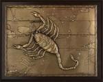 """Панно из металла на стену """"Скорпион"""" малое"""