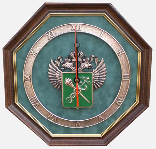 Настенные часы с эмблемой таможни