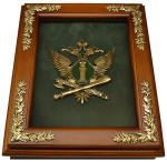 Настенная деревянная ключница с эмблемой ФССП России
