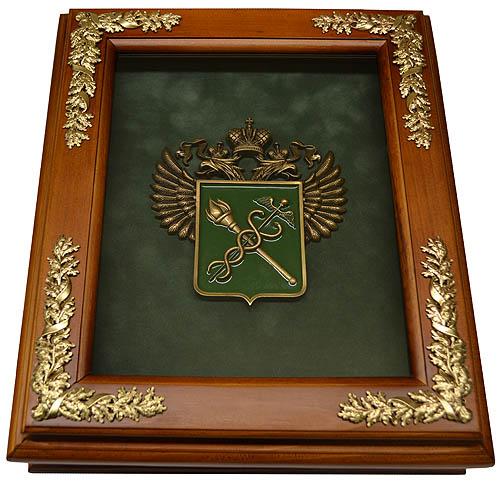 """Деревянная ключница """"Эмблема Таможни"""""""