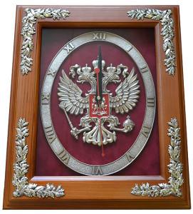 Настенные часы с гербом России