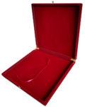 Флокированная подарочная коробка для плакеток 33 х 33 х 3 см