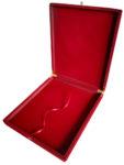 Флокированная подарочная коробка для панно в деревянной раме 29 х 34 х 4 см (вертикальная/горизонтальная)